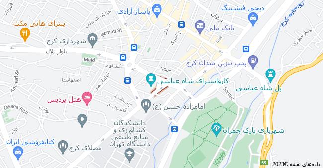 نقشه استان البرز، کرج، اصفهانيها، میدان شاه عباسی