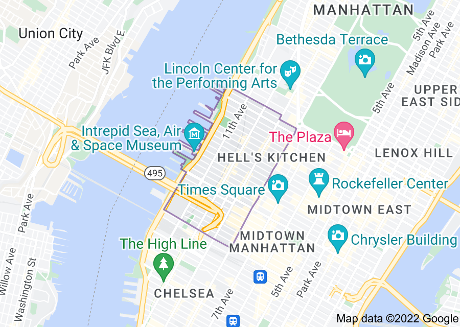 Location of Hell's Kitchen