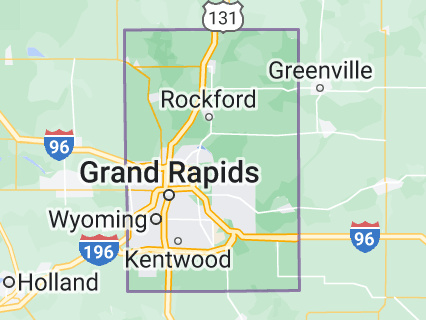 Map of Kent County, Michigan