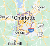 Map of Charlotte, North Carolina