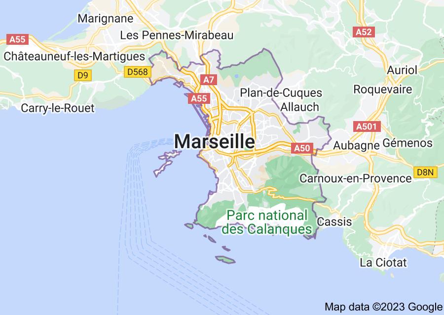Location of Marseille