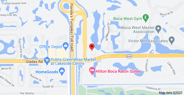 Boca Raton Location Map of 7777 Glades Rd, Boca Raton, FL 33434