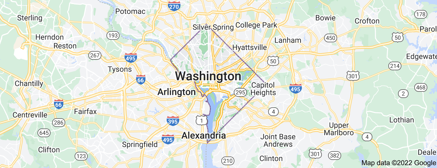 Location of Washington, D.C.
