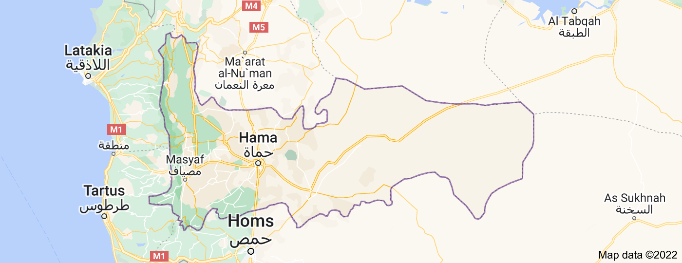 Location of Hama Governorate