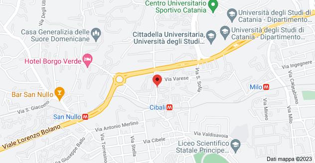 Mappa di: Via Galermo, 124, 95123 Catania CT