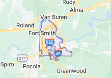 Map of Fort Smith, Arkansas