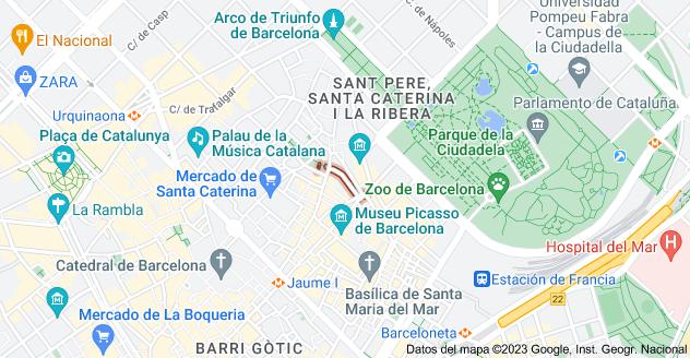 Mapa de Carrer de l'Allada-Vermell, 08003 Barcelona, España