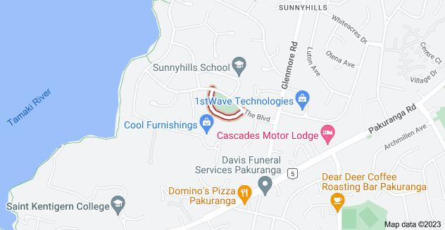Location of Sunnyhill Crescent