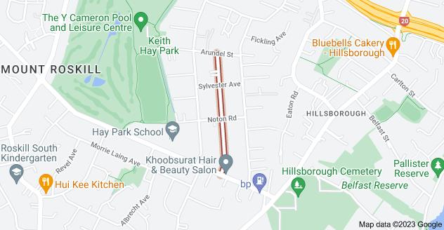 Location of Staveley Avenue
