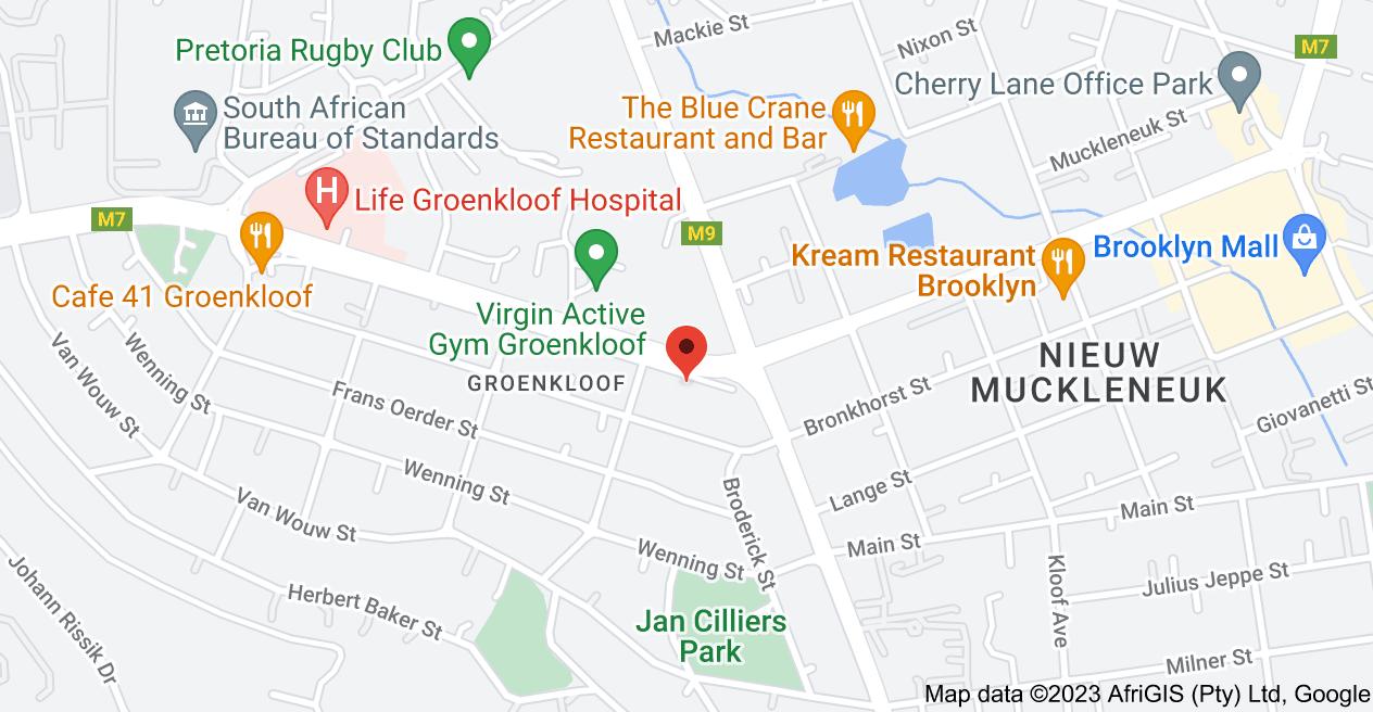 Map of 101 George Storrar Dr, Groenkloof, Pretoria, 0181