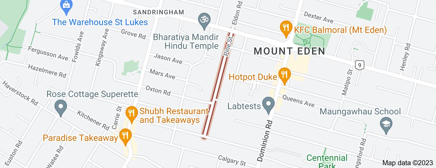 Location of Pine Street