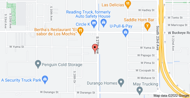 Map of 1450 S 27th Ave, Phoenix, AZ 85009