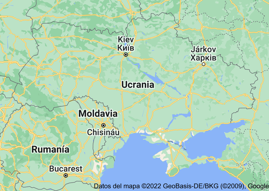 Location of Ucrania