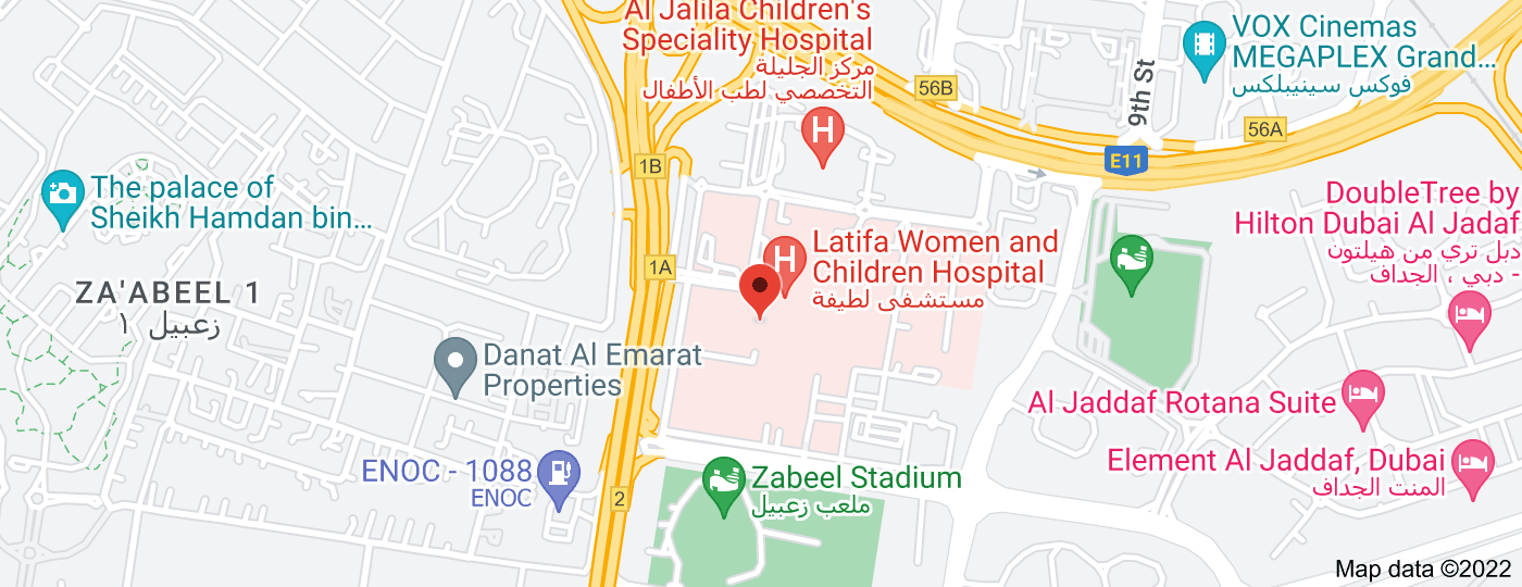 Location of Latifa Hospital