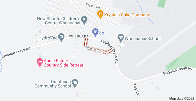 Location of Ngahue Crescent