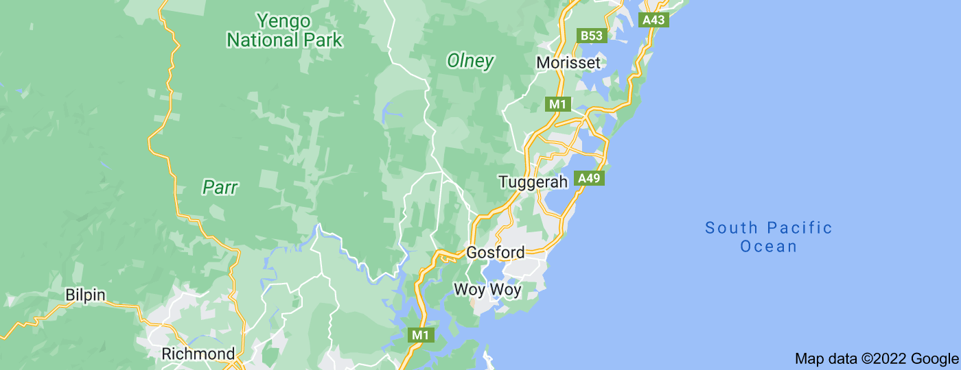 Location of Central Coast