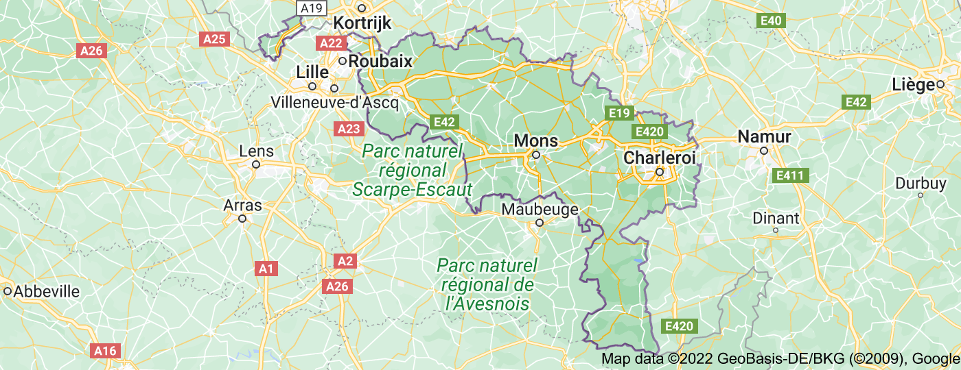 Location of Hainaut