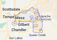 Map of Mesa, Arizona