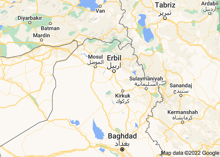 Location of Iraqi Kurdistan