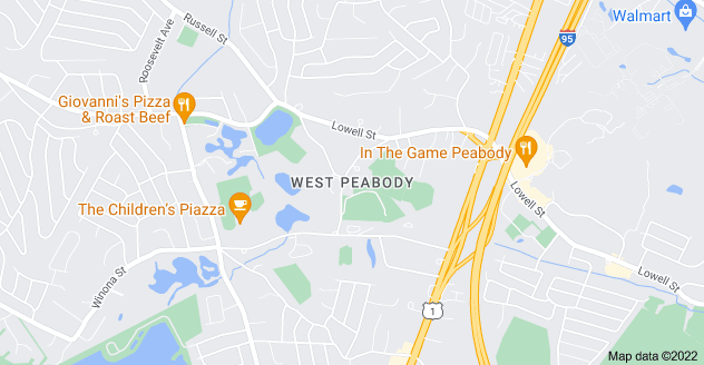 Map of West Peabody, Peabody, MA 01960
