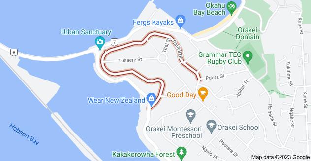 Location of Paritai Drive