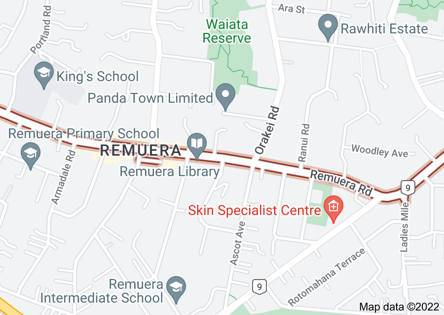 Location of Remuera Road