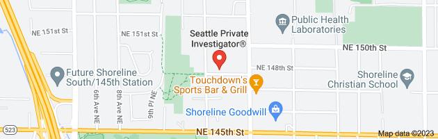 Map of private investigator seattle washington