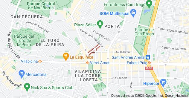Mapa de Carrer d'Alloza, 08016 Barcelona, España