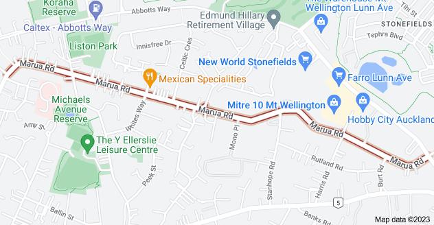 Location of Marua Road
