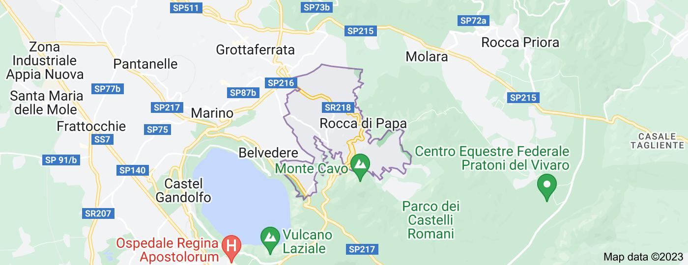 Location of Rocca di Papa