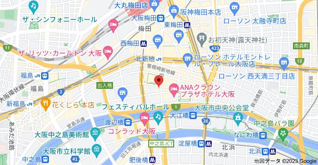〒530-0003 大阪府大阪市北区堂島1丁目5−39 Four Seasons7 1Fの地図