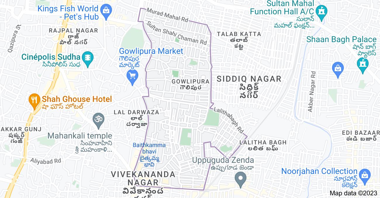 Map of Gowlipura, Hyderabad, Telangana, India