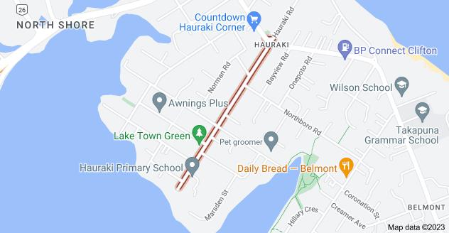 Location of Jutland Road