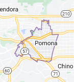 Map of Pomona, California