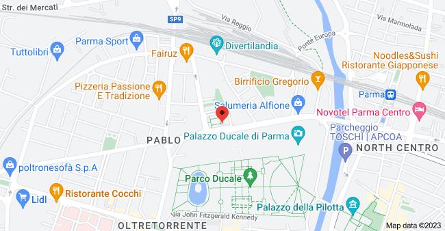 Mappa di Piazza Badalocchio, 9, 43126 Parma PR