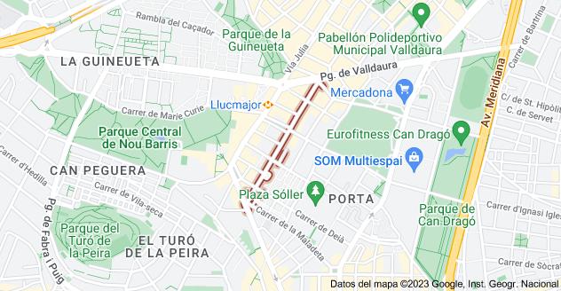 Mapa de Carrer d'Alcúdia, 08016 Barcelona, España