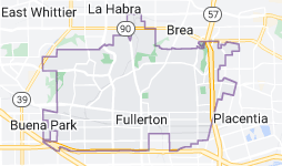 Map of Fullerton, California
