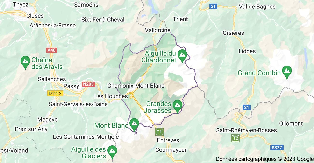74400 Chamonix-Mont-Blanc: carte
