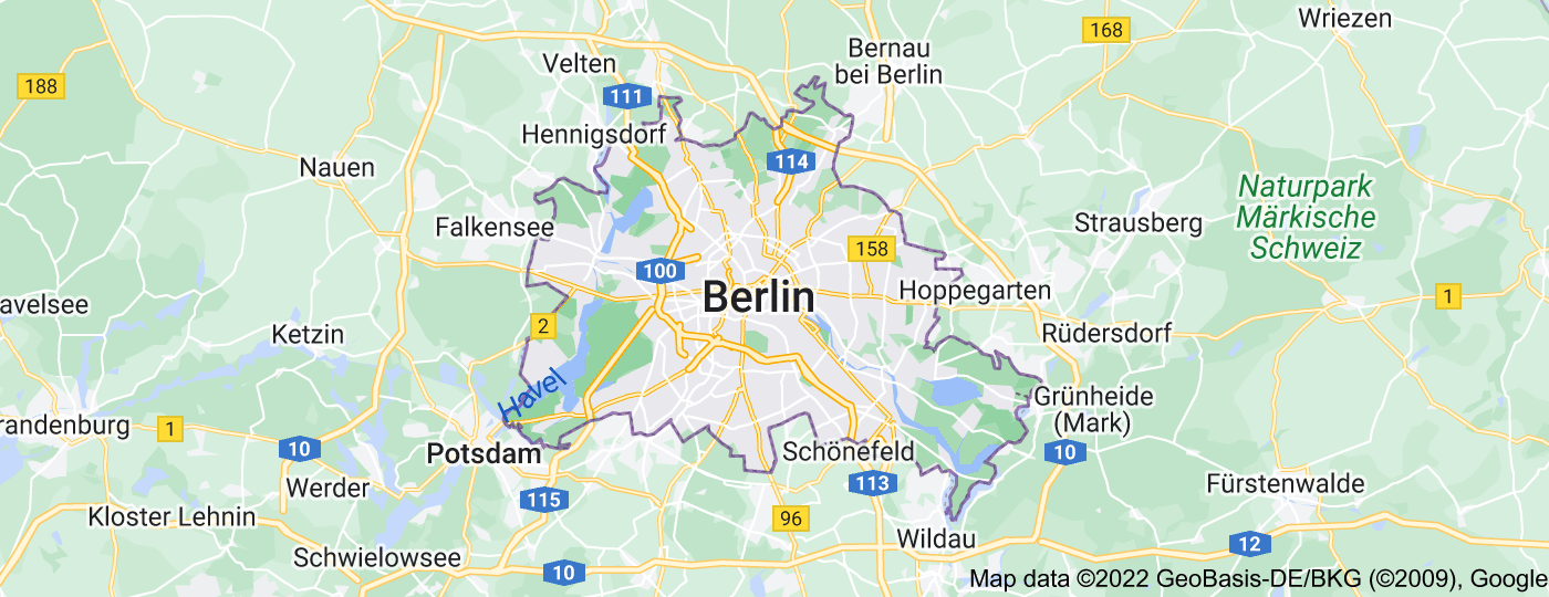Location of Berlin