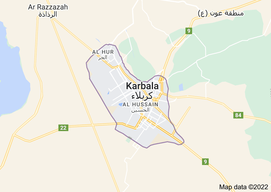 Location of Karbala
