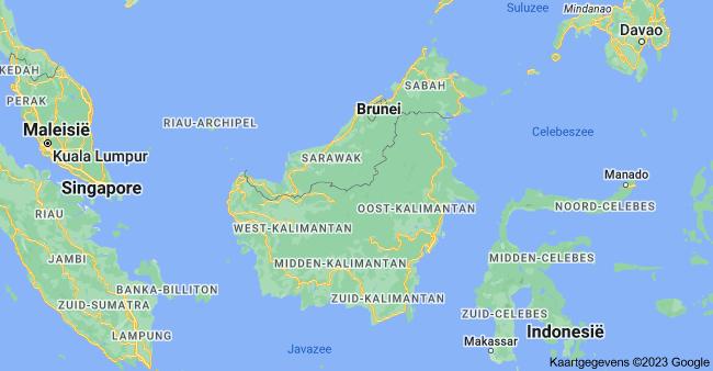 Kaart van Borneo