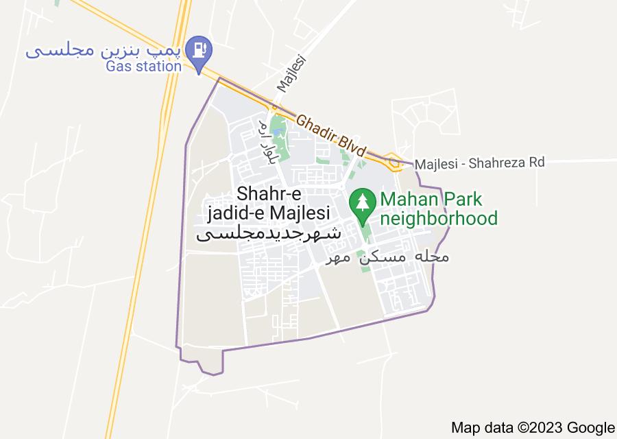 Location of Shahr-e Jadid-e Majlesi