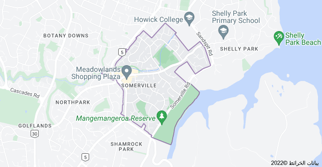 Location of Somerville