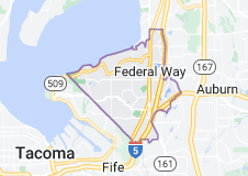 Map of Federal Way, Washington
