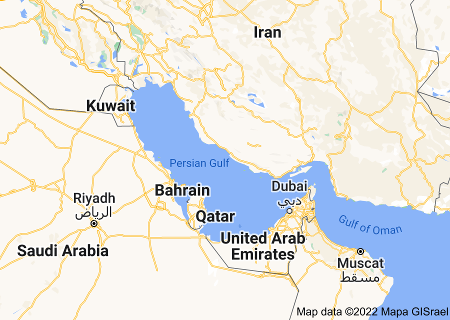 Location of Persian Gulf