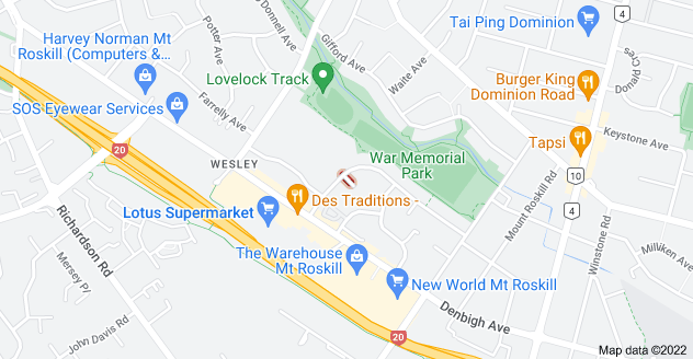 Location of Oxley Avenue