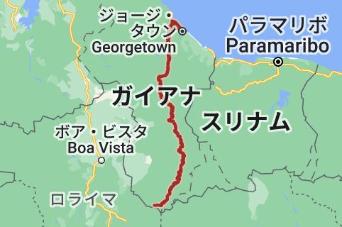 エセキボ川の地図