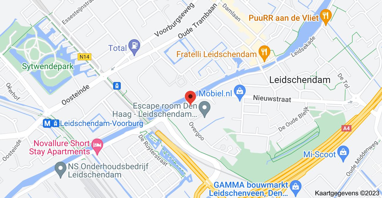 Kaart van Vlietweg 14, 2266 KA Leidschendam