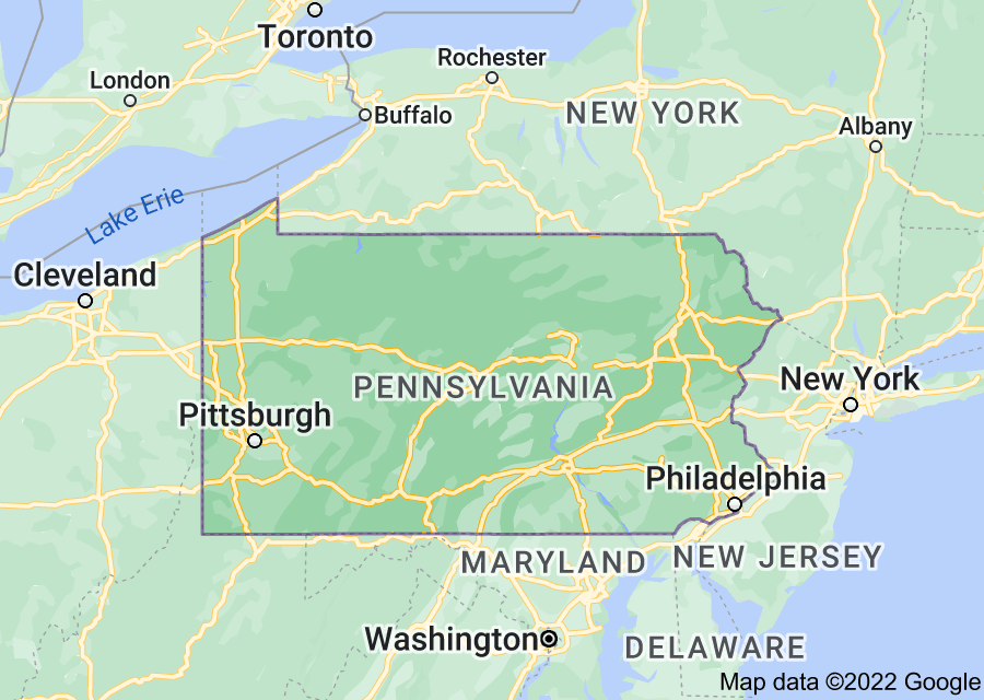 Location of Pennsylvania