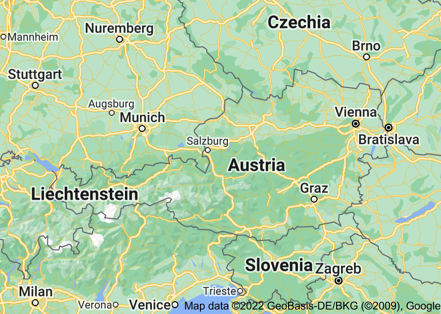 Location of Austria